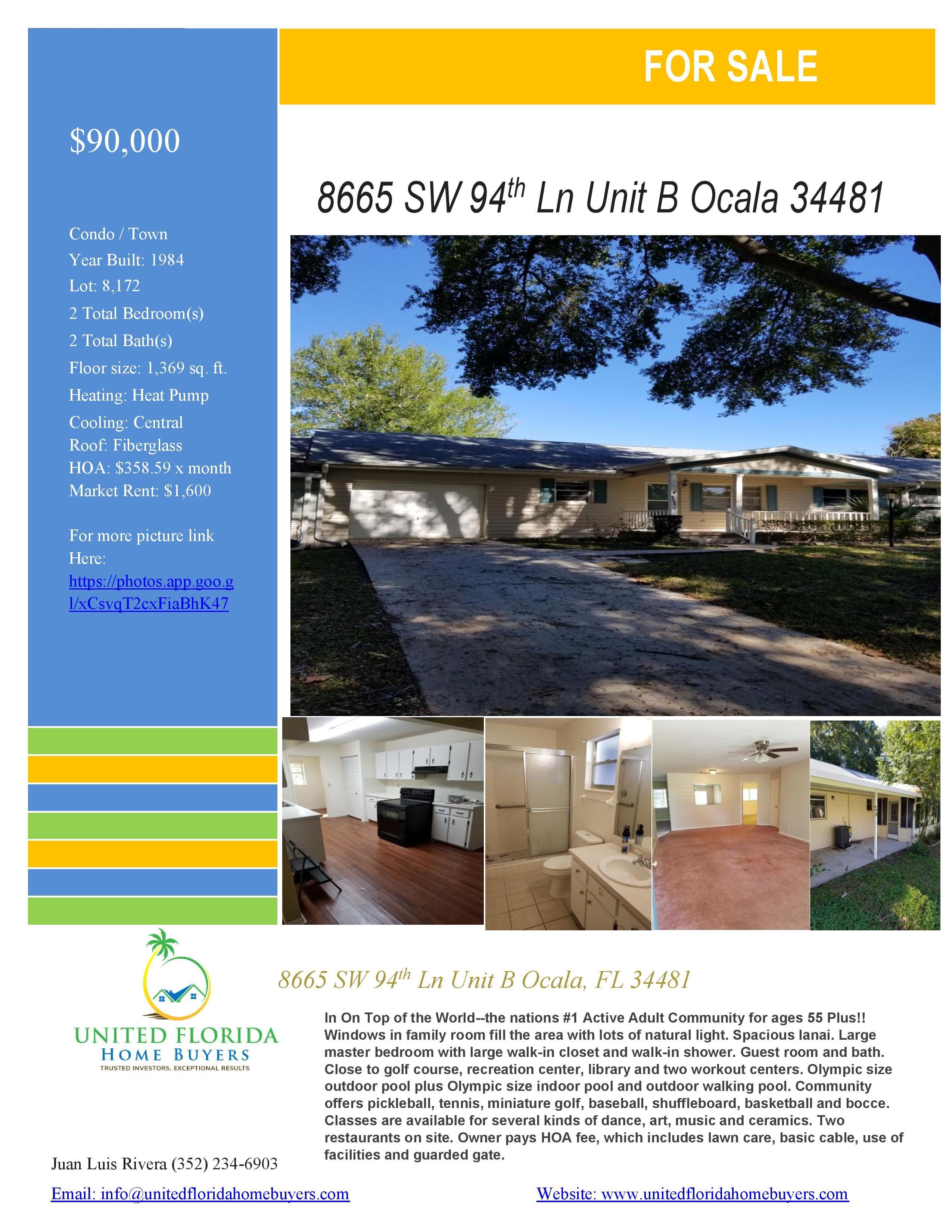 8665 SW 94th Ln Unit B, Ocala, FL