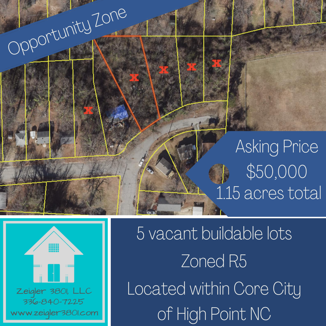 5 Buildable Lots, High Point, NC